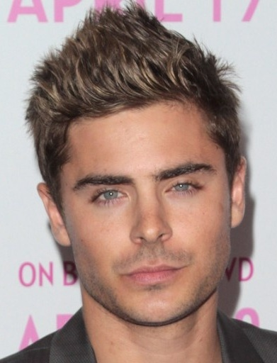 Cool haircuts for boys - Zac Efron's Faux Hawk Style