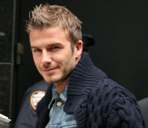 David Beckham haircuts - blonde spikes with short sides