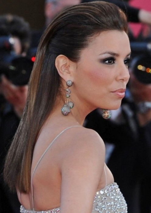 Eva Longoria Hairstyles Half Up Half Down Latest Hair