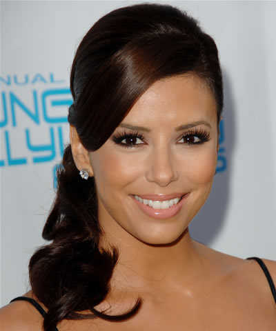 Eva Longoria Hairstyles - Side Ponytail