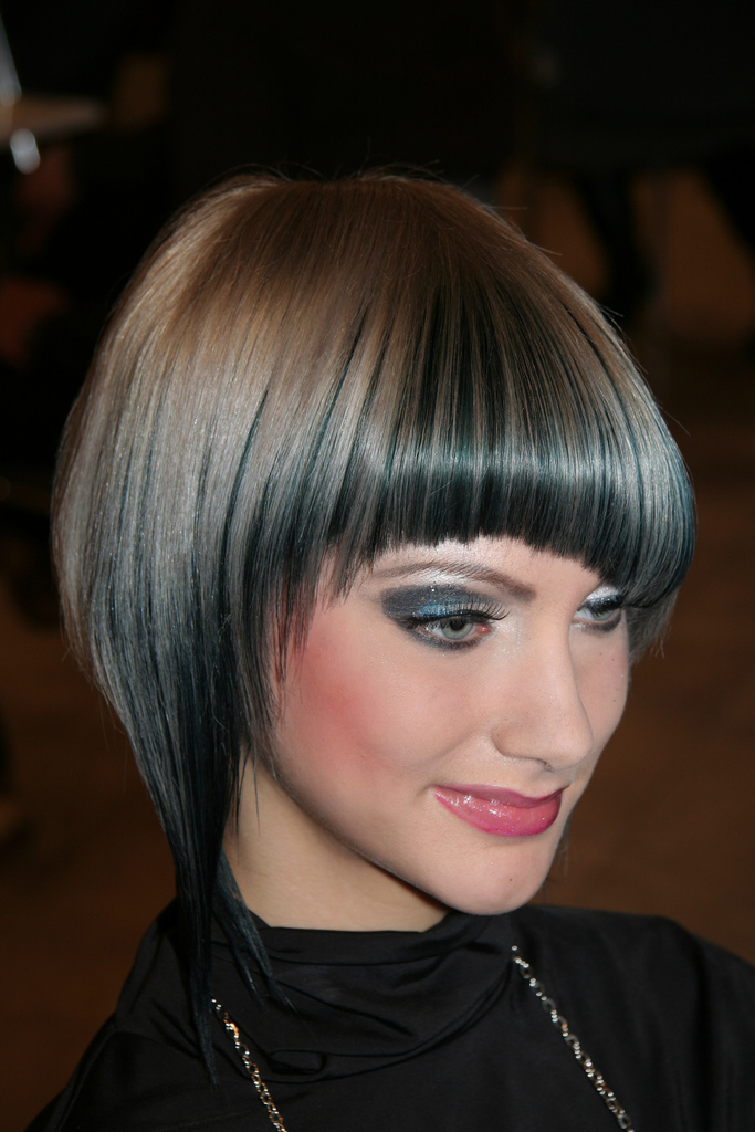 Funky Bob Haircut With Straight Bangs 02 Latest Hair