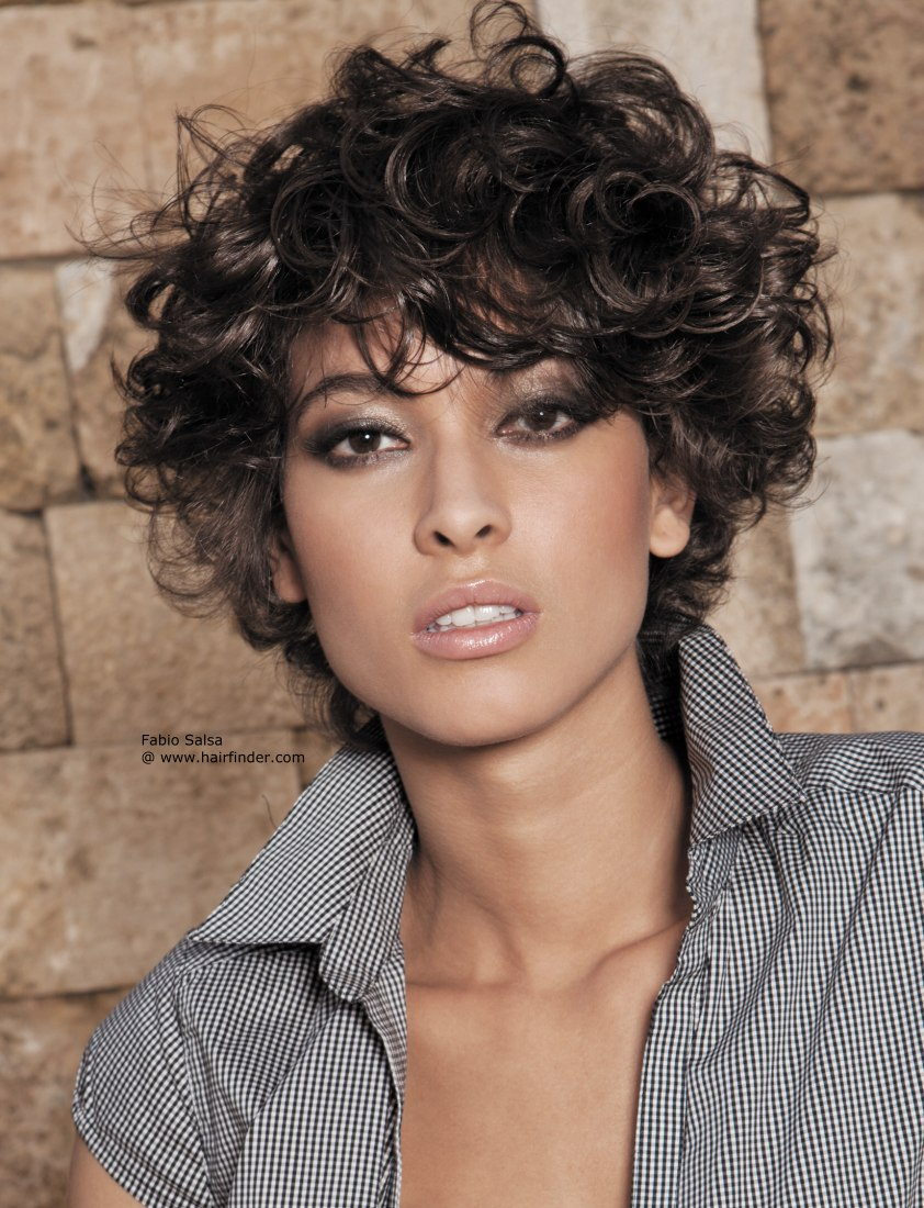 Hairstyles For Short Curly Hair Women and cool hair color