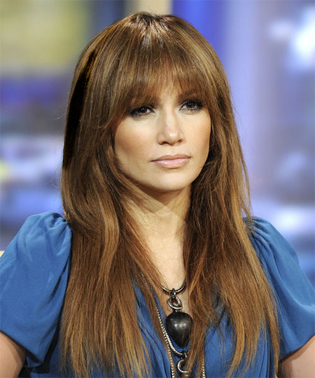 J Lo With Easy Layered Hair With Bangs Latest Hair