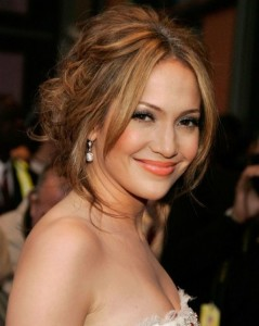 Jennifer Lopez Hairstyles - Sweet Updo