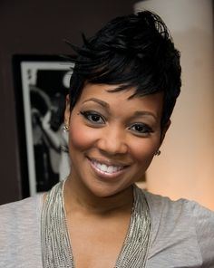 Monica Hairstyles - Short Pixie