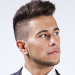 Tapered side hairstyle for teen boys