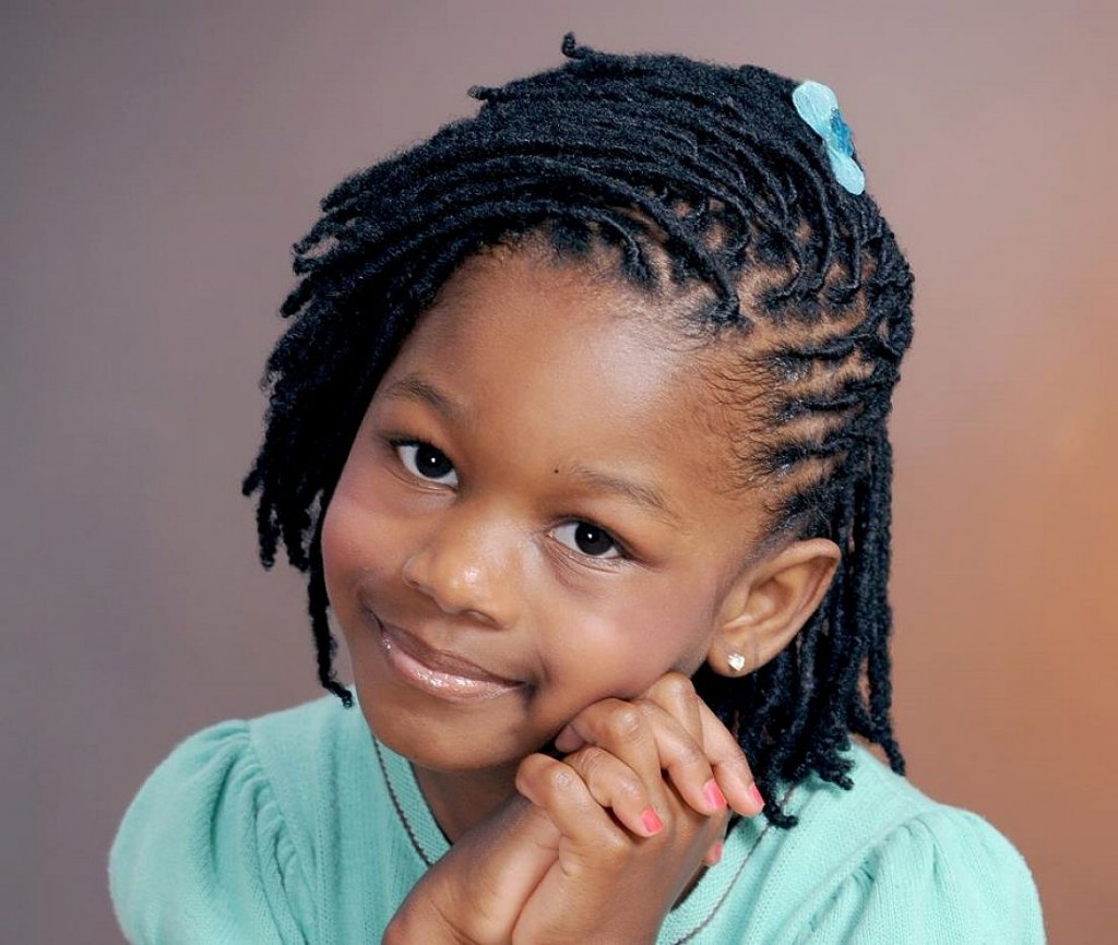 braid little girl Hair Style