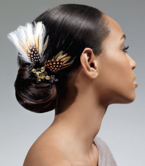 Bun Hairstyles for Black Women wedding_02