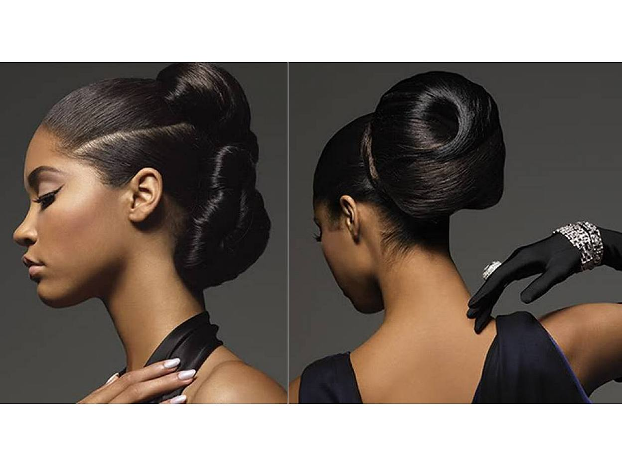 Bun Hairstyles for Black Women Wedding_04