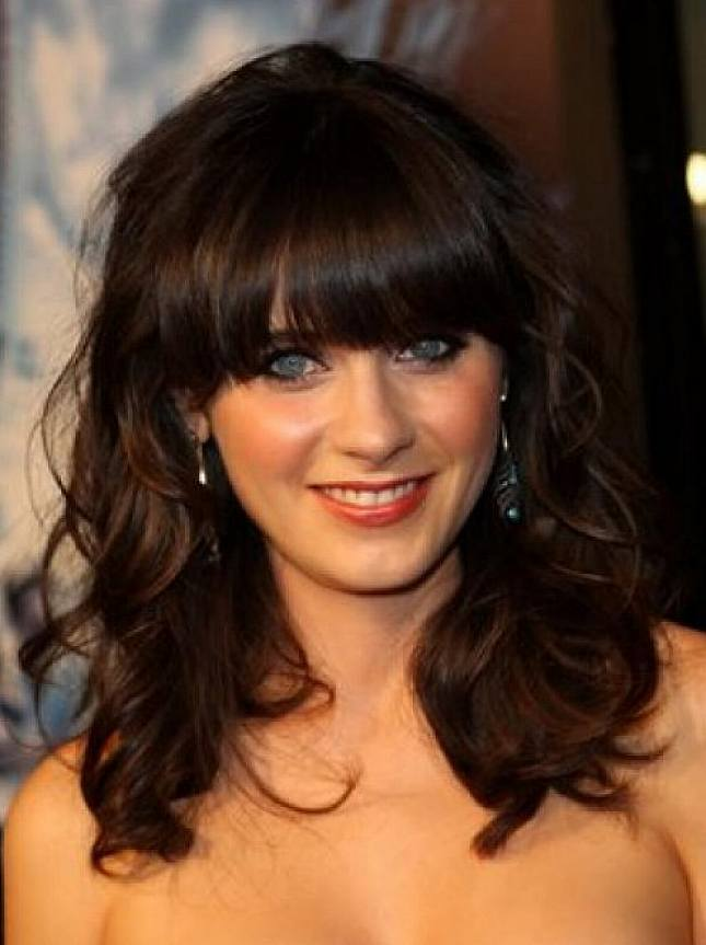 Brilliant Curly Bangs Hair Styles For Medium Hair Women Latest Hair Styles Short Hairstyles Gunalazisus