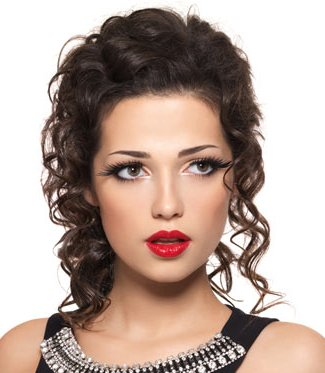 Formal hairstyles for curly hair