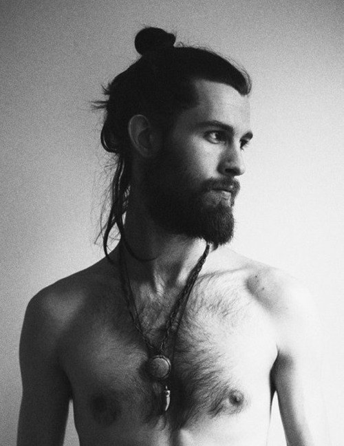 2015 Manbun Men's Long Hairstyles