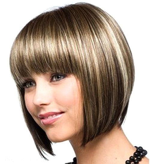 Cute bob hairstyles for a round face