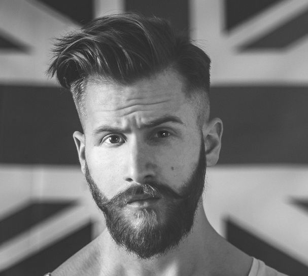Wonderful Cool Short Hair Styles With Shaved Hair And Beard