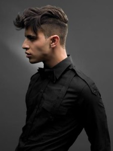 Mens medium hair styles : The Disconnected undercut