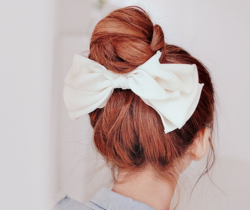Korean hairstyle girl - Cute Bun