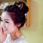 Korean hairstyle girl - Korean Bun