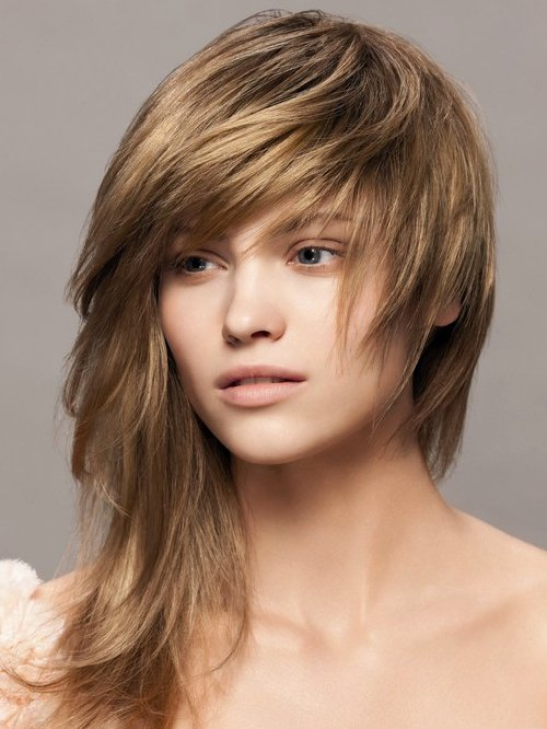 Long Layered Hairstyles with Bangs - Choppy, Messy - Latest Hair ...