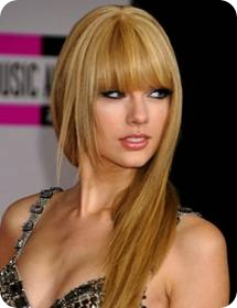 Long Layered Hairstyles with Bangs - cute bangs