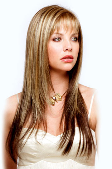 Long Layered Hairstyles with Bangs - long all over bangs