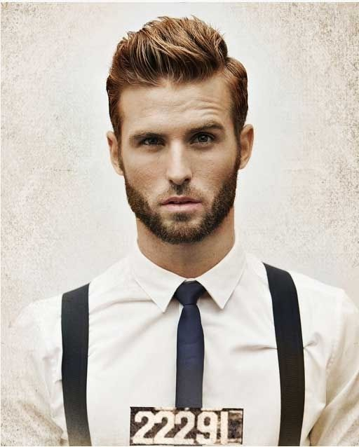 Modern hairstyles for men in 2015 with brushed up hair