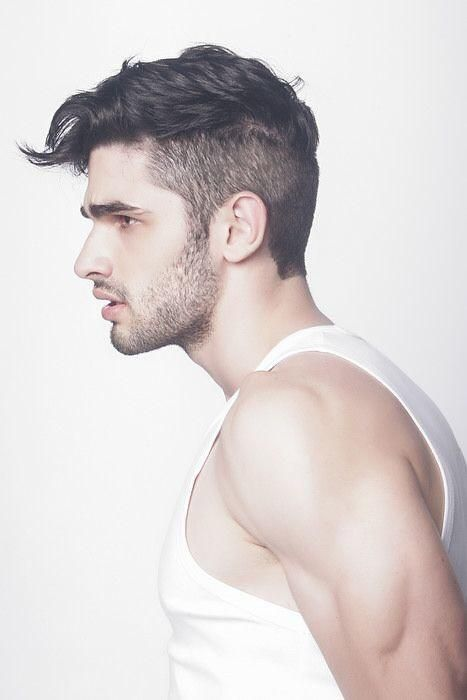 Modern men hairstyles with short hair on back and sides