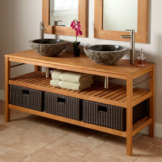 898765 L Teak Bathroom Vanity Vessel Double Sinks Latest Hair. Latest Styles Bathroom Vanities   Rukinet com