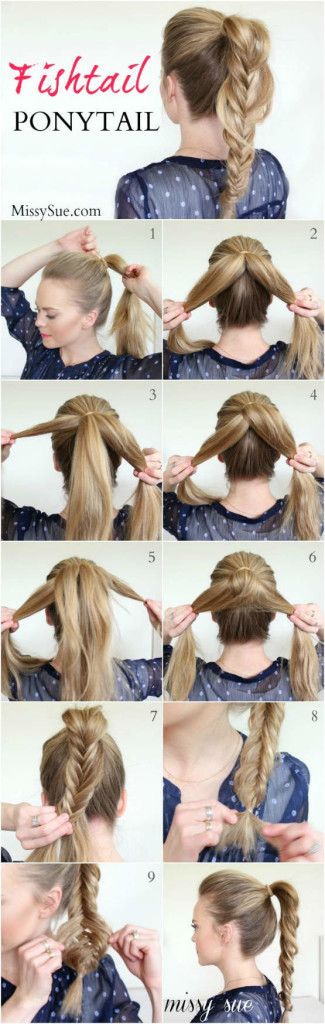 DIY-Tutorial-fishtail-Ponytail-for-Long-Hair