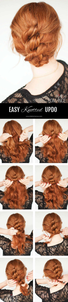 Easy Knotted Updo Step by Step Instructuion Tutorial for Wedding Guess