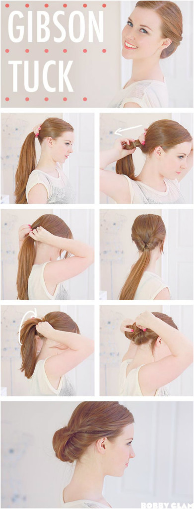 Easy Updo Tutorial to Follow - Gibson Tuck Low Updo