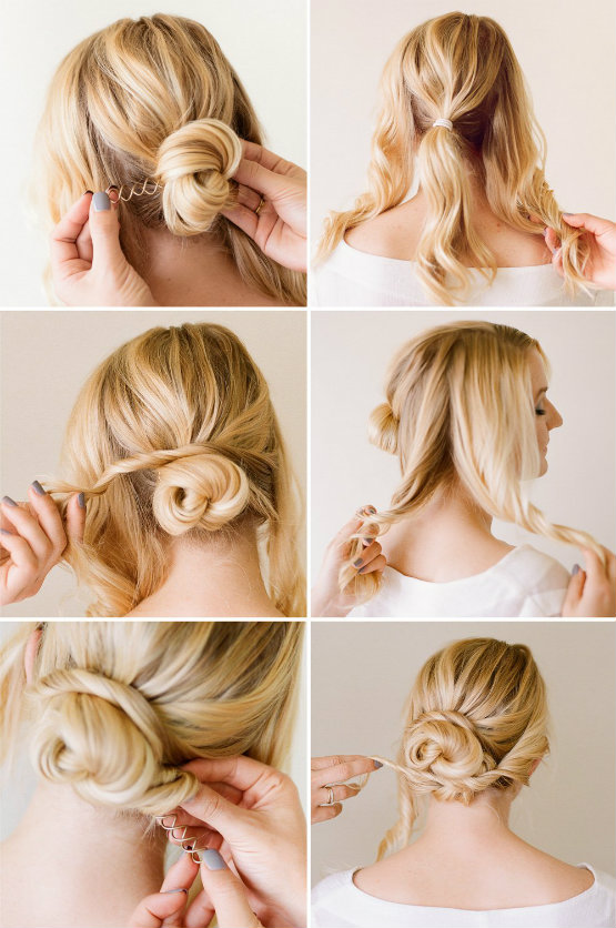 Elegant Hair Styles for Women - Pretty Updo Step by Step