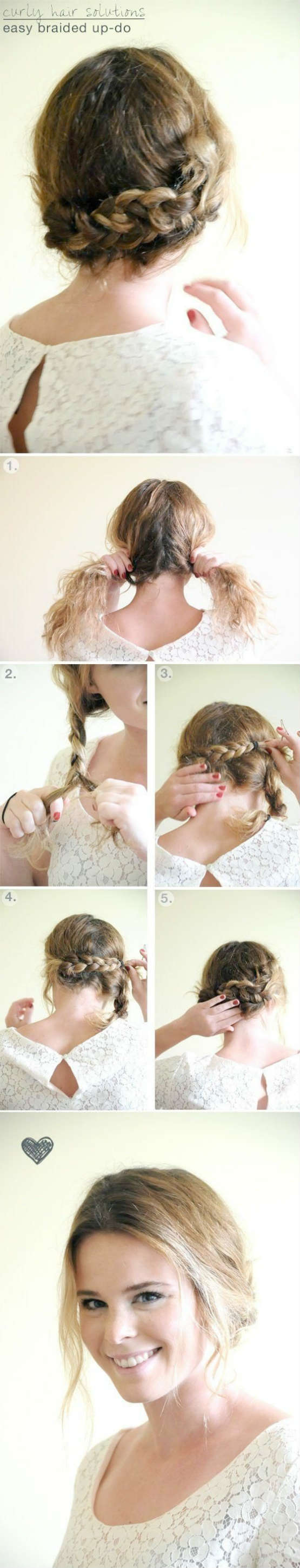 Elegant and easy hair updo tutorial for special occassion