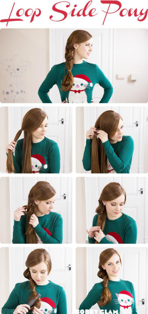 Loop-Side Ponytail for long hair