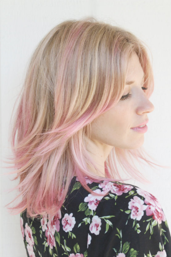 Pastel Blonde And Pink Hair Color Latest Hair Styles
