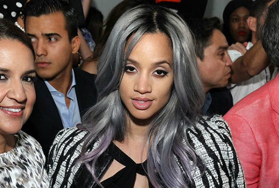 Pastel gray granny colored hair
