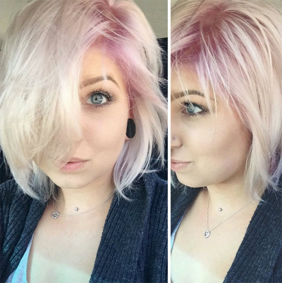 Pastel roots hair colors