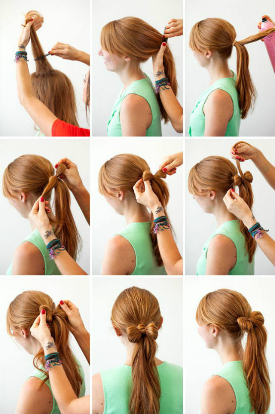 Ponytail Bow Hairstyles