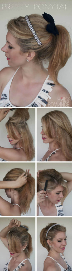 Pretty Ponytail Hairstyle with Headband