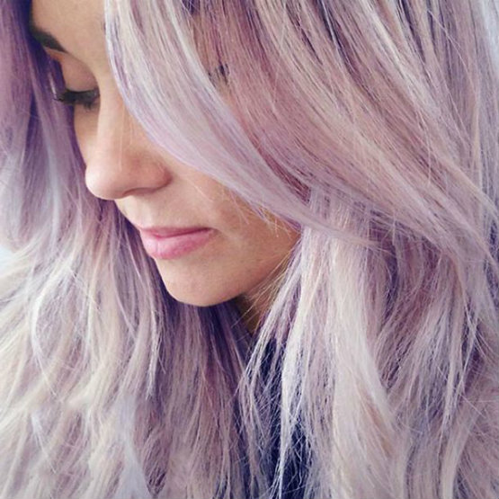 Pretty pastel purple hair trends
