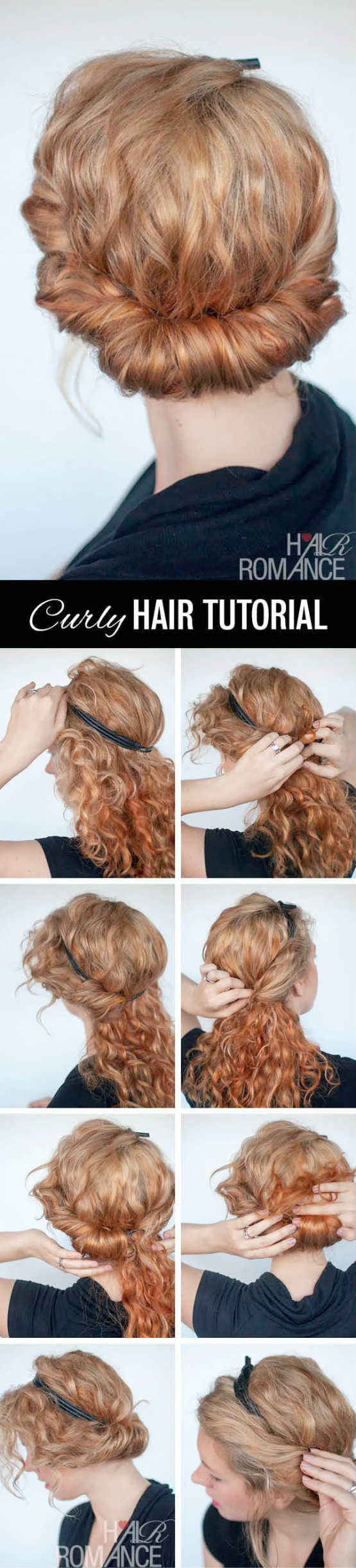 Rolled Headband Updo Tutorial for Homecoming