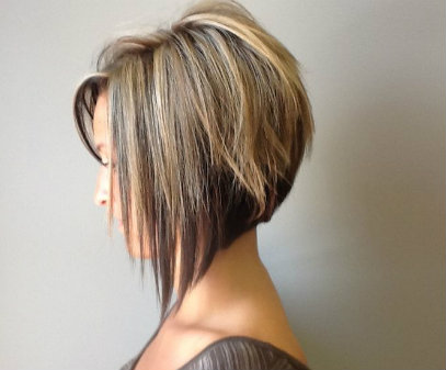 Stacked bob could be best shor hairstyles for mature women