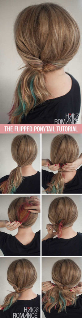 The Cute Flipped Ponytail