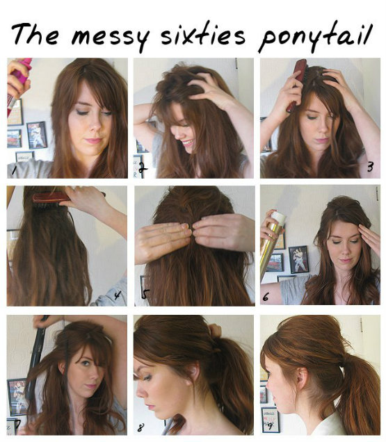 The Messy Sixties Ponytail for Girl