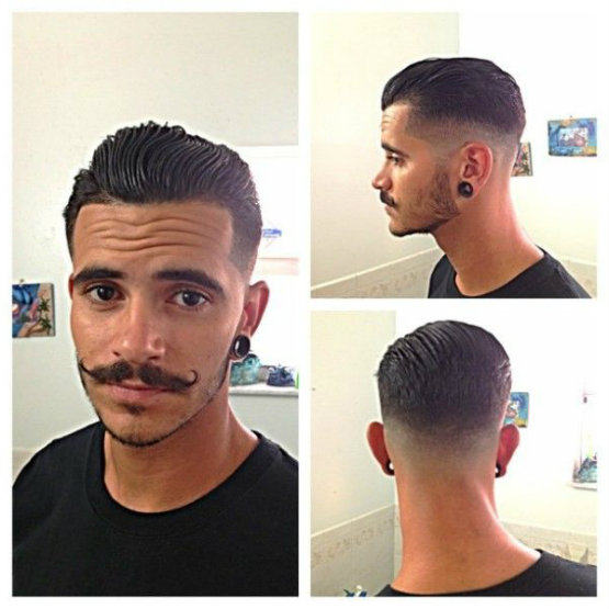 Undercut Rockability with Medium Length Hair on The Top
