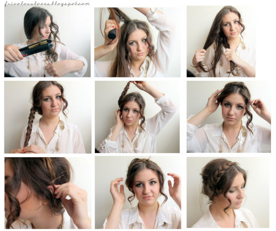 Vintage Braided Updo Tutorial Instruction