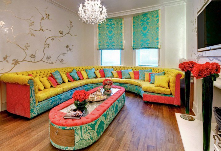 Colors for Living Rooms with Colorful Interior Design Ideas
