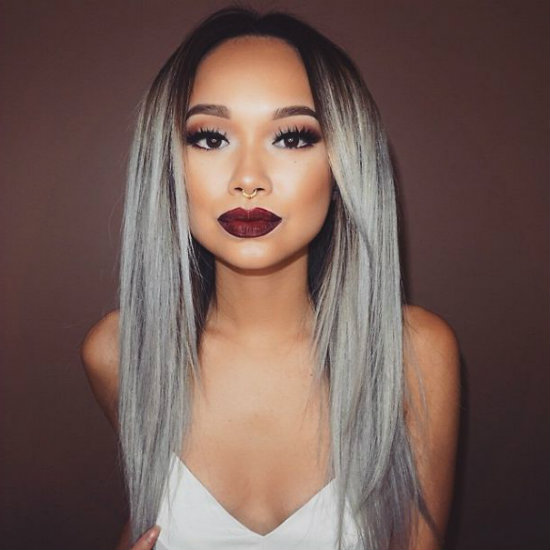hair-dye-gray-for-girl-centre-parted-styles-101__605 - Latest Hair ...