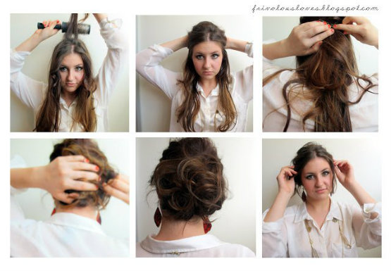 messy updo tutorial for prom