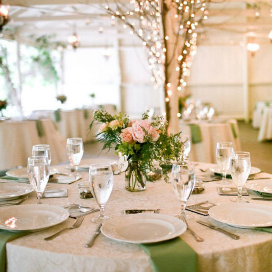 Outdoor wedding with pink rose flower reception decor for for Wedding reception ideas for spring