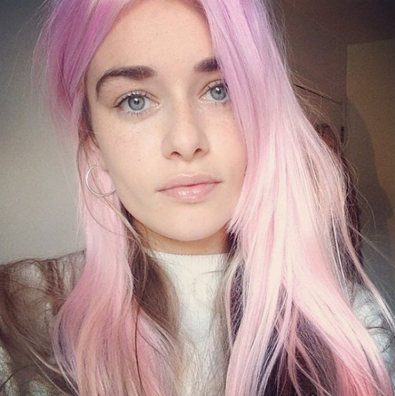 pastel pink purple hair dye colors